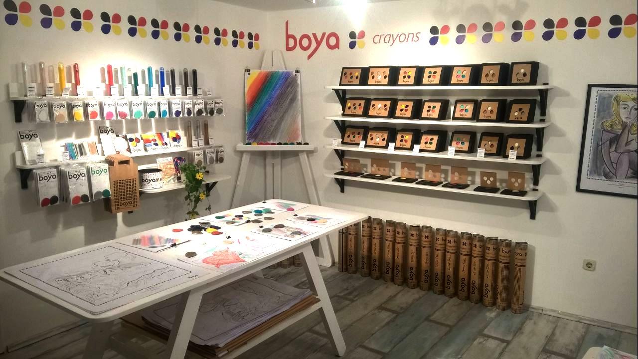 Boya shop Korcula interior